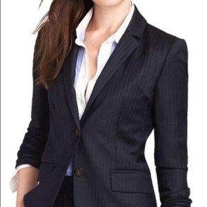 J.Crew wool navy striped blazer Super 120's 0